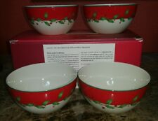 New Lenox Dimension Collection For The Holidays Soup Dessert Bowls Set Of 4