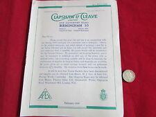 Clapshaw & scindere Birmingham 1940 SPORTIVO CATALOGO COMMERCIALE listino prezzi