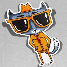 Cat in Suit Business Vinyl Sticker Decal Window Car Van Bike 3545