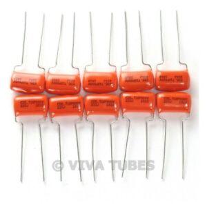 Lot of 10 New Sprague 716P Orange Drop .022uF 600V 5% Poly Film Capacitors