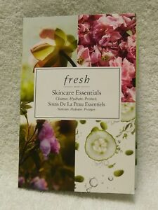 Fresh Skincare Essentials Travel set Soy Face Cleanser Rose Mask Lotus Youth Pre