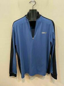 Sugoi Blue Black 1/4 Zip Cycling Jacket Men's Size L
