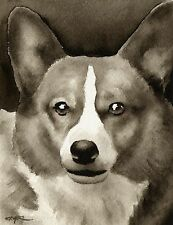 Welsh Corgi note cards by watercolor artist Dj Rogers