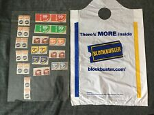 (30) Blockbuster Video Store Label Stickers And Plastic Bag Unused New Old Stock