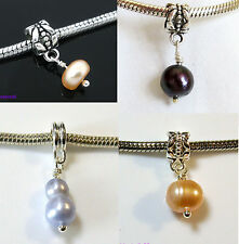 Freshwater Pearl CHARM BEAD For 3mm European Snake Bracelet - Choice of Colours