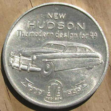 RARE NOS 1949 HUDSON 40th. ANNIVERSARY ADVERTISING TOKEN or MEDAL #94