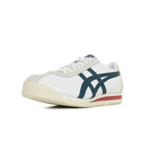 Chaussures Baskets Onitsuka Tiger homme Corsair taille Blanc Blanche Cuir Lacets
