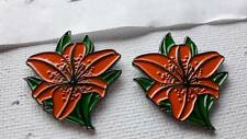 Orange Lilly British Ulster Loyalist Protestant Pin Badge Unionist Orange Order