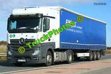 Truck Photo TR-00085 Mercedes Actros Reg:- HHV086 Op:- Finejas M20 Dover Lorry