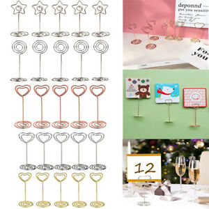 10pcs Metal Table Card Holder Stand Number Place Name Menu Party Wedding Decor
