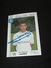 Carte photo football JAURES AJA AJ AUXERRE Saison 2003-2004 Autographe signé