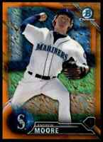2016 Bowman Chrome Orange Shimmer Refractor Andrew Moore RC Mariners #BCP234