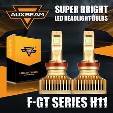 New listing Auxbeam Gold H9 H11 Led Headlight Hi/Lo Beam 90W 6000K H8 Fog Bulbs Xenon White