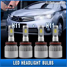 Combo H9 & H11 400W 6000K 40000LM LED Headlight Bulbs Kit High Beam + Low Beam