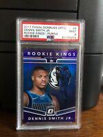 2017-18 Panini Donruss Optic Rookie Kings Purple Dennis Smith Jr. Card #9 PSA 9