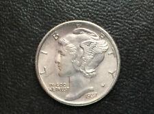 1937-S Mercury Dime BU Silver U.S. Coin FSB M1505