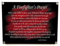 A Firefighter's Fireman Prayer Metal Wall Art Decor with Stainless Stand Offs