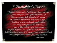 A Firefighter's Prayer Metal Wall Art Decor - with Matching 8x10 color print