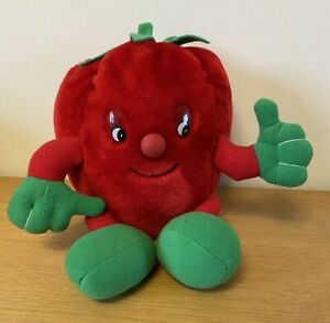 THE WOODLAND BEAR CO. PIZZA PALS PLUSH RED TOMATO SOFT TOY