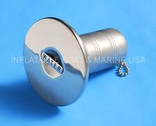 "Boat Deck Fill / Filler Keyless Wide Cap 1-1/2"" Water Marine 316 Stainless Steel"