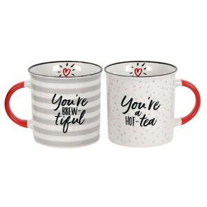 Couples Mug Set Coffee Tea Wedding You're Brewtiful