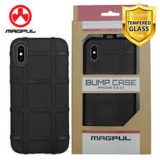 Magpul Bump Polymer Case For iPhone SE 2nd 2020/Xs/X/8/7 Plus+Tempered Glass