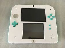 Nintendo 2DS Sea Green and White Handheld  W/ MARIO KART 7-MEMORY CARD 4GB