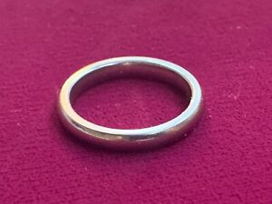 James Avery Palladium White Gold Narrow Athena Wedding Band Ring - Size 6.5