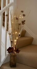 Cream Indian ting Sheath display in wood vase with LED lights weddings & Xmas