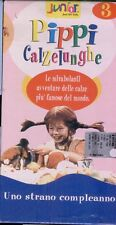 PIPPI CALZELUNGHE 3 vhs Långstrump-uno strano COMPLEANNO- Inger Nilsson