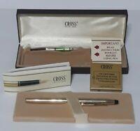 CROSS Classic 10 Karat Gold Filled FOUNTAIN PEN - w/Box & Accessories