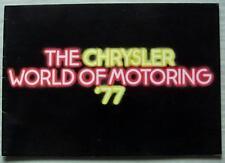 CHRYSLER AUTO gamma BROCHURE DI VENDITA ago 1976 #C9518/1/100 Avenger Alpine 180/2 L
