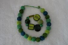 SET: Kette / Collier Kugeln aus Perlen + Armband