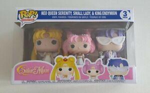 Sailor Moon 3 Pack Pop Vinyl - Neo Queen Serenity + Small Lady + King Endymon