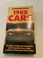 1988 Cars Consumer Guide Paperback