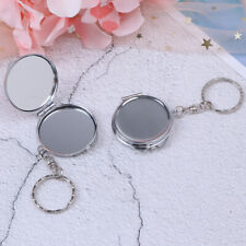 Personalised Folding Mirror Key Ring Keychain Portable Compact Cosme Nfhfs