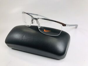 New NIKE 6070 070 Gunmetal TITANIUM Eyeglasses 53mm with NIKE Case