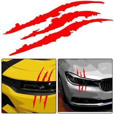 Universal Red Car Headlight Scratch Stripe Decal Sticker Claw Stripe Slash