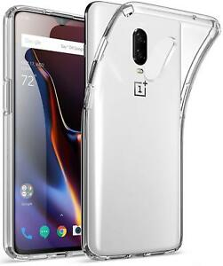 For OnePlus 6T - Soft TPU Gummy Rubber Phone Case Skin Cover Transparent Clear