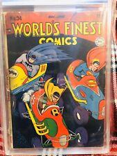 World's Finest Comics #34 Batman Superman Golden Age 1948 PGX Not CGC 1.8