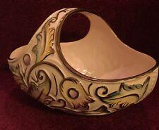 Antique Vintage Wade Gothic Porcelain Basket - Hand Painted.