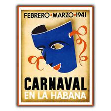 Havana carnival cuba métal signe plaque murale vintage holiday travel pub print