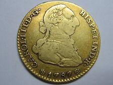1787 SEVILLA 2 ESCUDOS CHARLES III GOLD COIN SPANISH COLONIAL SPAIN