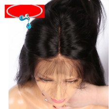 "26"" Women Long Straight Lace Front Natural Human Hair Wigs Full Wig w/ Baby Hair"