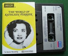 The World of Kathleen Ferrier inc What is Life to Me + Cassette Tape - TESTED