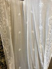 "Victorianna Design Cream Cotton Lace Curtain c1900s period 58""/120"""