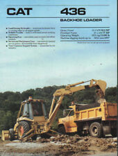 "Caterpillar ""436"" Tractor Backhoe Loader Brochure Leaflet"