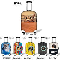 """Cool Animal Cute Cat Dust-proof Travel Luggage Suitcase Protective Cover 18""""-30"""""""