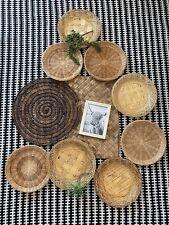 Basket Wall Boho/Modern/Farmhouse Hanging Decor Set Of 11 Rattan & Wicker