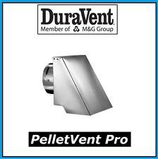 "DURAVENT PELLETVENT PRO Pipe 4"" Diameter Square Horizontal Cap #4PVP-HSC NEW!"